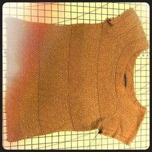 Metallic gold lightweight sweater